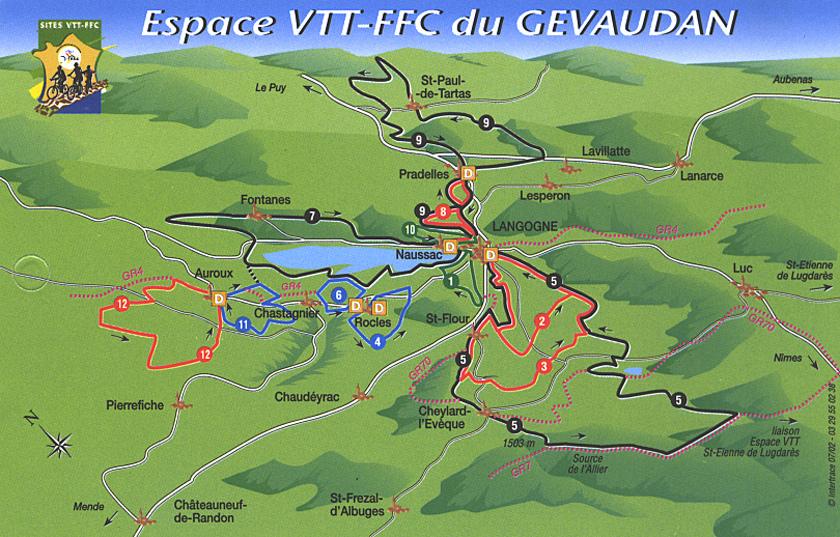 Carte VTT Gévaudan